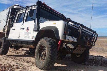 Land Rover Defender Poly Sill Long Range Tank   Shingleback
