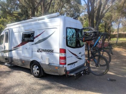 Shingleback Vertical Bike Rack | Motorhome Camper