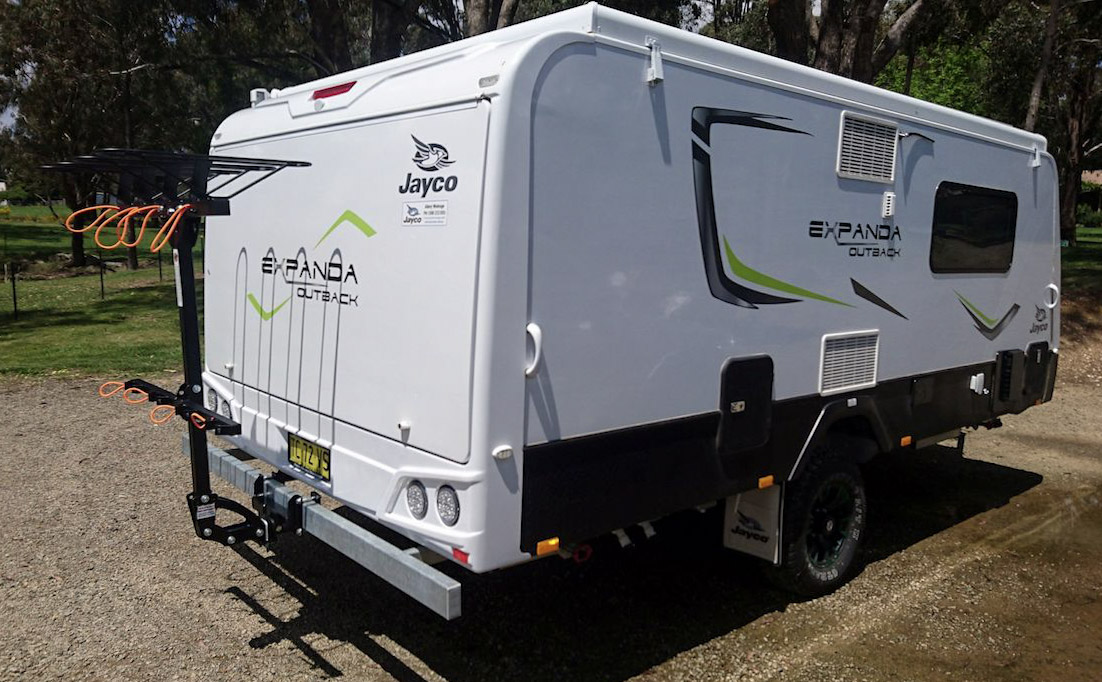 shingleback rack on Jayco Caravan