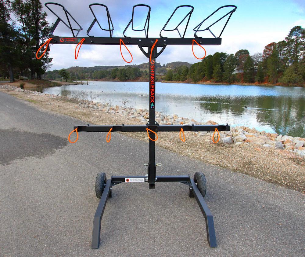 Shingleback Trolley Stand with Shingleback 5 Bike Rack