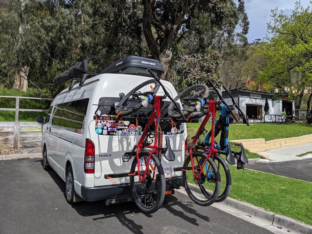 Vertical Bike Rack on Toyota Hiace Van