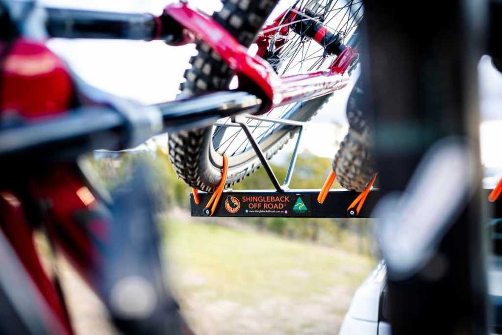 Close up of Shingleback Vertical Bike Rack