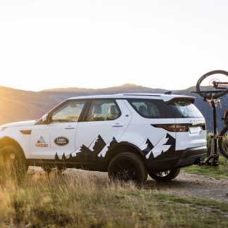 Shingleback 3 Bike Vertical Rack on Land Rover Defender