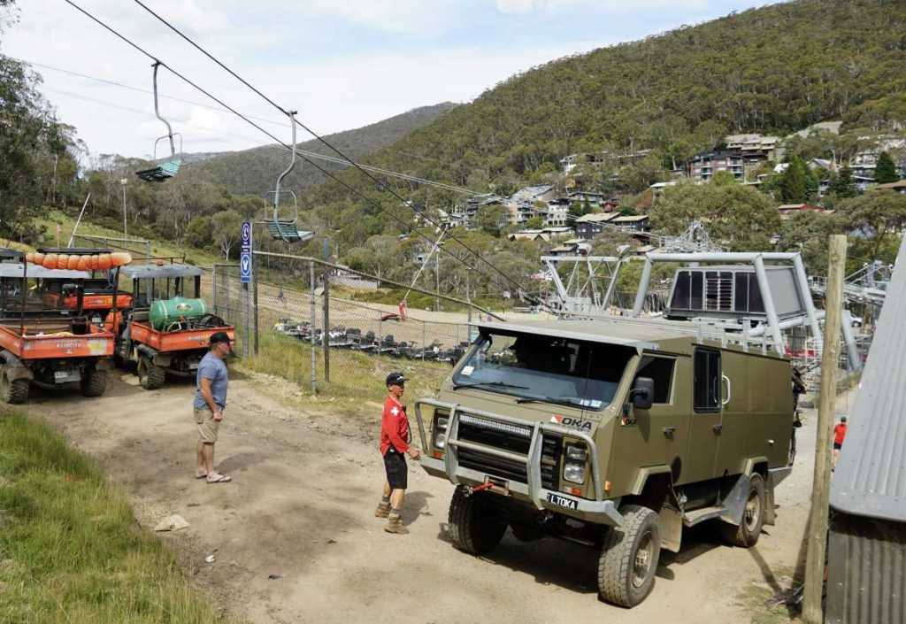 Delivering Shingleback Vertical Bike Racks for the Thredbo MTB team