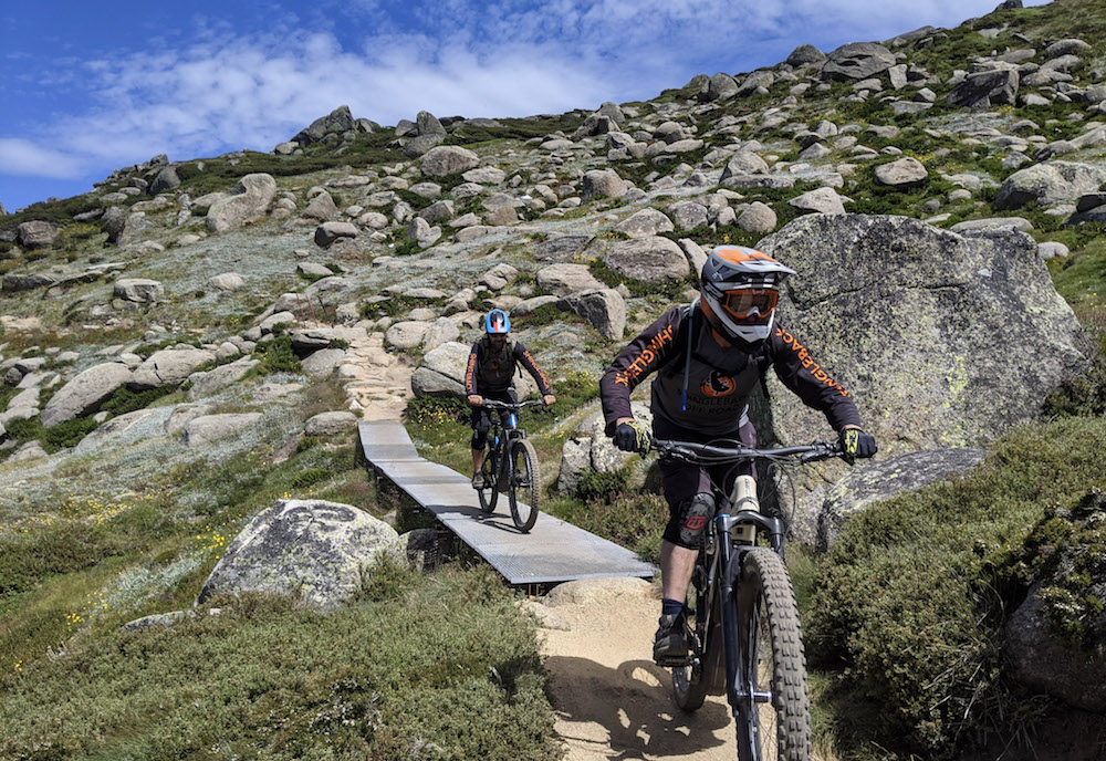 Mountain Biking on Thredbo's All Mountain Trail