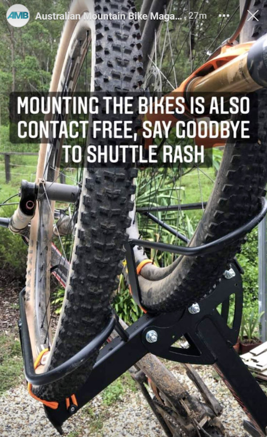 2B90 contact free bike loading