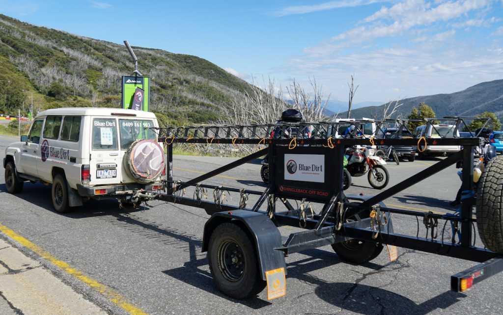 MTB Bike Shuttle Trailer at Falls Creek Resort