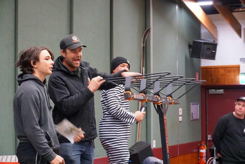 Young Theodore winning a new Shingleback rack