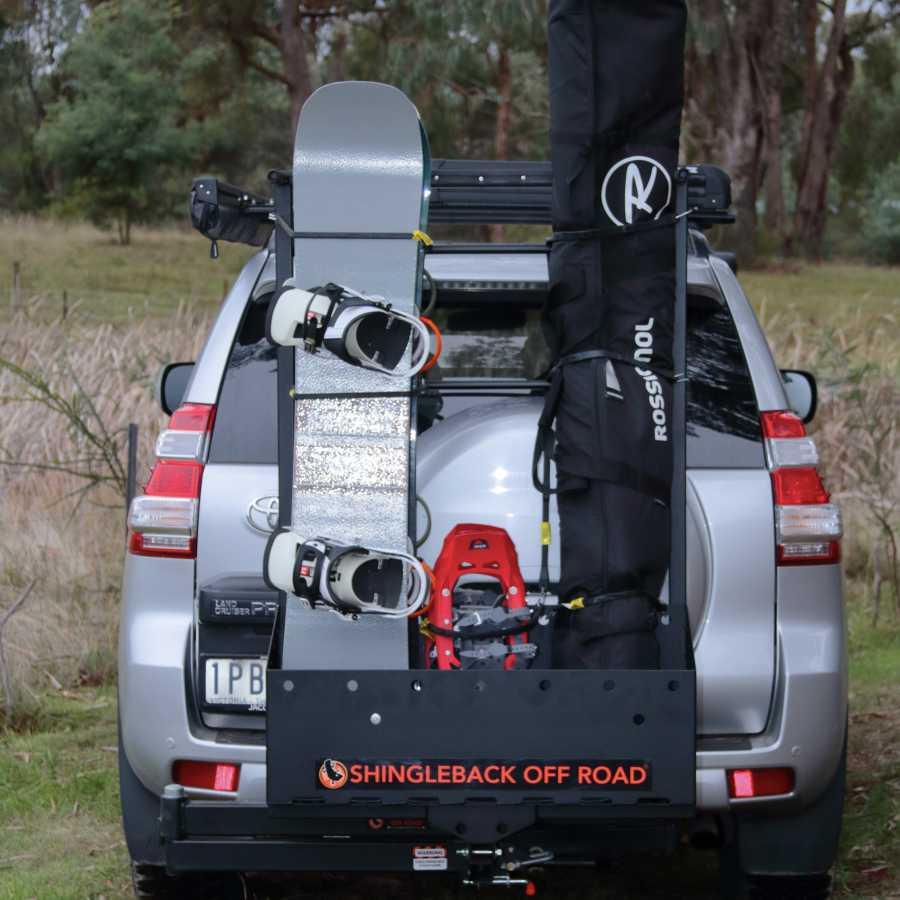 Hitch Mount Ski & Snowboard Rack on Toyota Prado